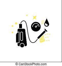 glyph, druck, wäsche, ikone
