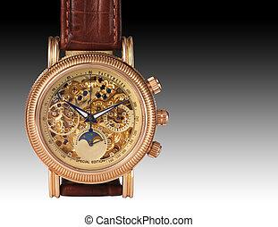 Golden-Uhr-Mechanismus, Makro-Teile.