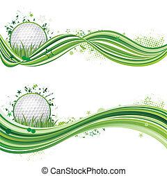 golfen, sport, entwerfen element