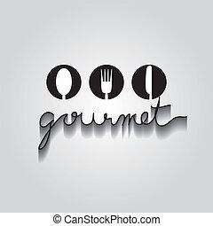 Gourmet Typo Vektor, EPS 10.