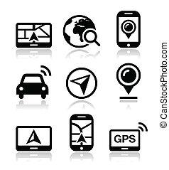GPS, Navigations-Vektor-Ikonen
