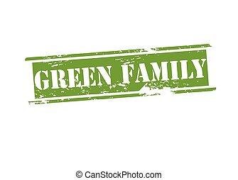 Grüne Familie.