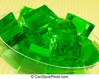 Grüne Gelatine