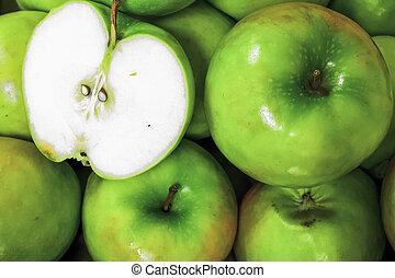 Grüne Großmutter Smith Äpfel.