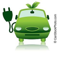 Grüne Hybrid-Elektrik-Ikone