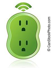 Grüner Öko-Stellverschluss-Energie-Icon