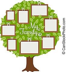 Grüner Familienbaum mit Rahmen