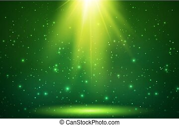 Grüner Magie Top Lichtvektor Hintergrund.