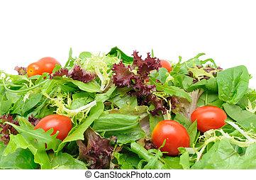 grüner salat, hintergrund