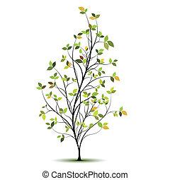 Grüner Vektorbaum-Silhouette