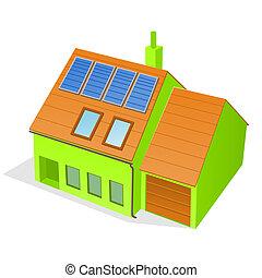 Grünes Familienhaus