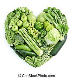 Grünes gesundes Essen