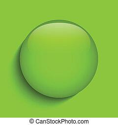 Grünes Glaskreissymbol.
