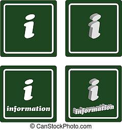 Grünes Reiseinformationszeichen