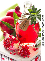 granatapfel, juice., selbstgemacht