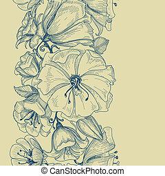 Graphisches Blumenmuster nahtlos