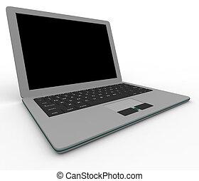 Grauer Laptop-Computer.