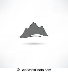 Graues Bergsymbol.