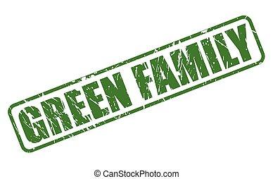 GREEN FAMILY grüner Stempeltext.