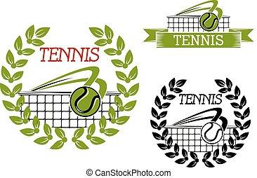 Green Tennis Sportspiel Symbol oder Symbol.
