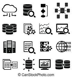 Große Daten- und Technologie-Icons.