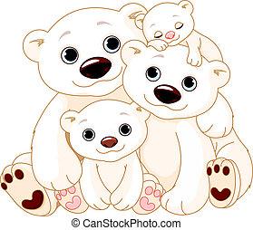 Große Eisbärenfamilie