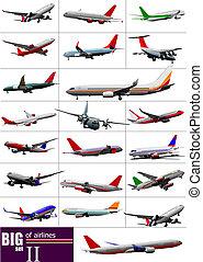 Große Fluglinien. Vektor Illustration