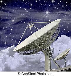 Große Satellitenschüssel