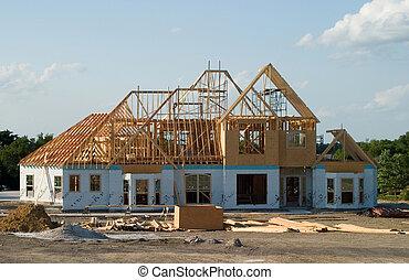 Großes Haus im Bau