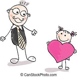 Großes Herz für Vater