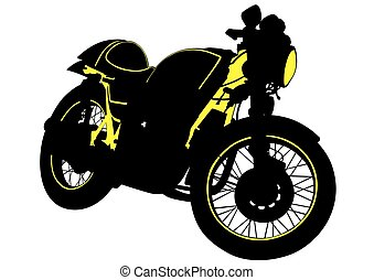 Großes Motorrad.