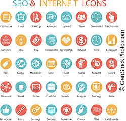 Großes Set von SEO und Internet Icons.