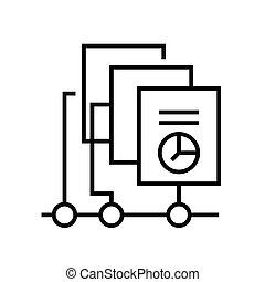 grobdarstellung, linie, tabellen, zeichen, vektor, abbildung, linear, symbol., begriff, ikone, sammeln