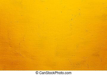 grunge, beschaffenheit, hintergrund, wand, gelber