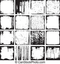 Grunge Square Background Vektor