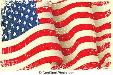 grungy, winkende , amerikanische markierung