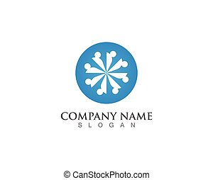 gruppe, logo, gemeinschaft