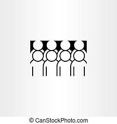 Gruppen von Personen Clipart Vektor Icon.