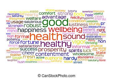 Gute Gesundheit und gute Tag-Wolke