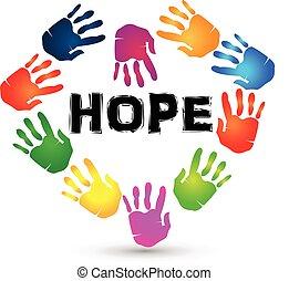 Hände hoffen Logo