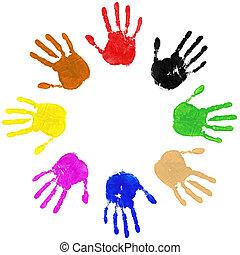 Hände kreisen
