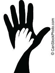 Hände Silhouette Vektor