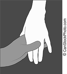 Händevektor