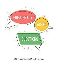 Häufig gestellte Fragen ergeben sich aus Chatwolken