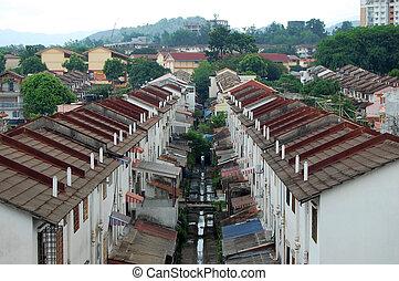Häuser in Kuala Lumpur Stadt Vorort.