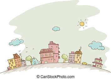 Häuser zeichnen Hintergrund
