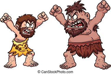 Höhlenmenschen kämpfen