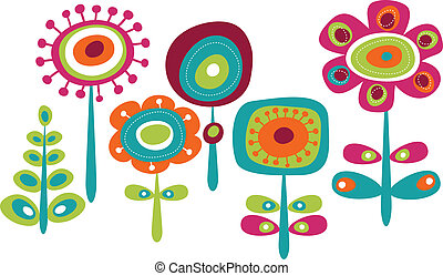 Hübsche farbenfrohe Blumen