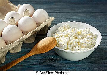 hüttenkäse, eier