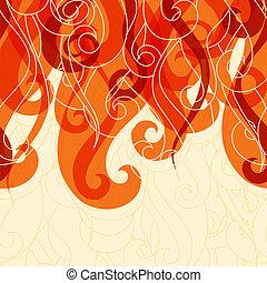 haar, abstrakt, locken, waves., hintergrund